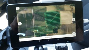 The Drone Deploy app on a  Nexus 7 2013 LTE Android tablet