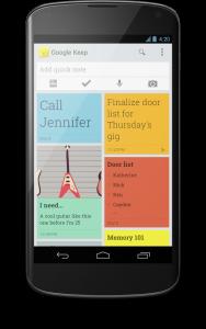Google Keep app on phone