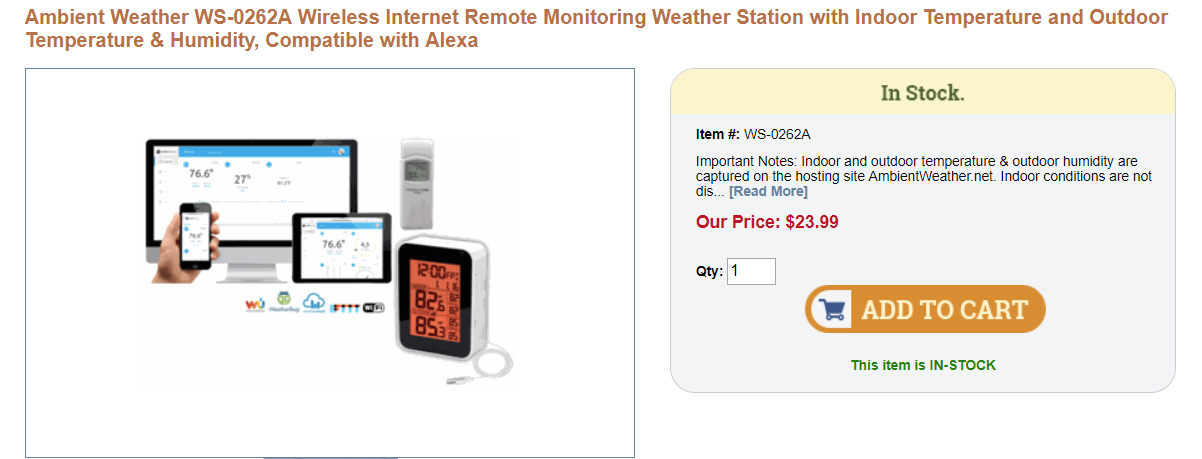 Cheap Internet Freezer Temperature Monitor and Weather Station |